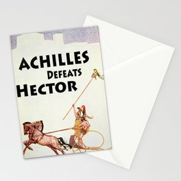 Achilles Kills Hector in The Illiad Illustration (1918) Stationery Cards