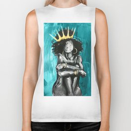 Naturally Queen IX TEAL Biker Tank