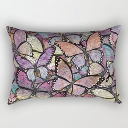 butterflies aflutter rosy pastels version Rectangular Pillow