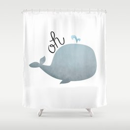 Oh Whale Shower Curtain