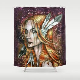 Cosmic Girl Shower Curtain