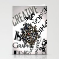 pixel Stationery Cards featuring Pixel by VERTIgO