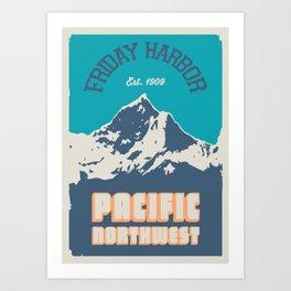 Friday Harbor. Art Print