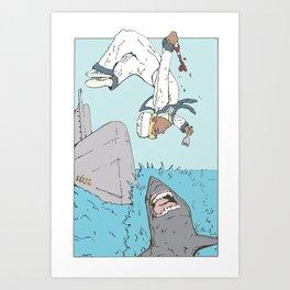 Shark Parkour Art Print