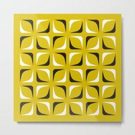 Geometric Pattern 143 (mustard) Metal Print