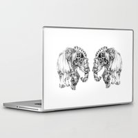 clockwork Laptop & iPad Skins featuring clockwork elephant by vasodelirium