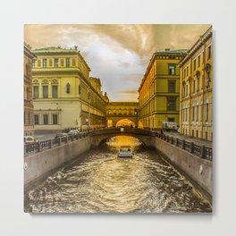 Swan Canal in St. Petersburg Metal Print