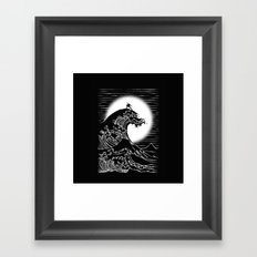 Waterbending (Black) Framed Art Print