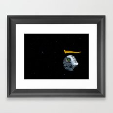 Red ring of Death Star Framed Art Print