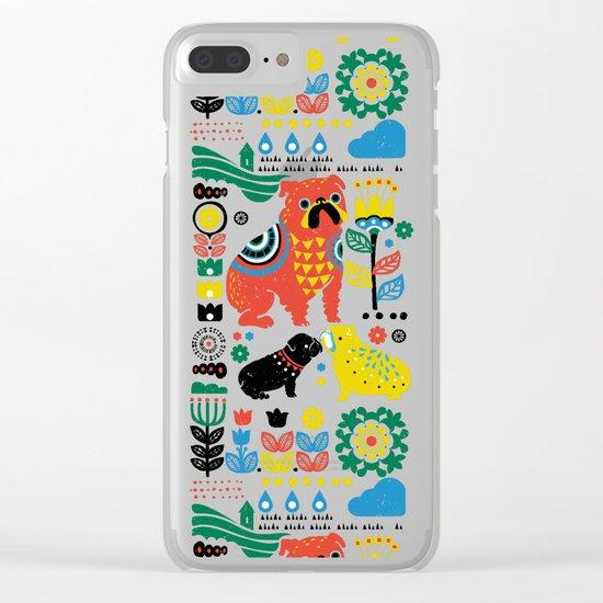 Scandinavian English Bulldog Clear iPhone Case