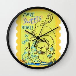 lama goloso di dolci Wall Clock