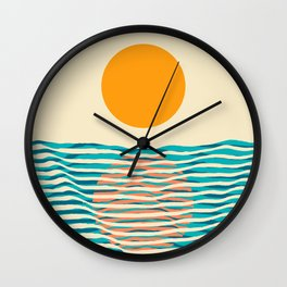 Ocean current Wall Clock