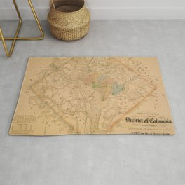 Civil War Washington D.C. Map Rug