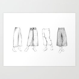 What's in my sketchbook_Culottes Art Print