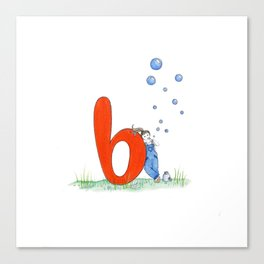 b is for bubbles Canvas Print