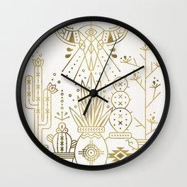 Santa Fe Garden – Gold Ink Wall Clock