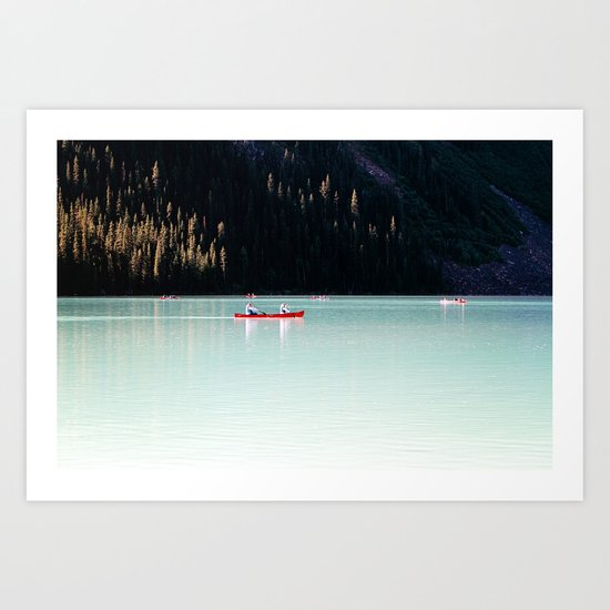 Lake day Art Print