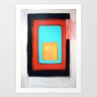rothko Art Prints featuring Living Rothko by Heaven7