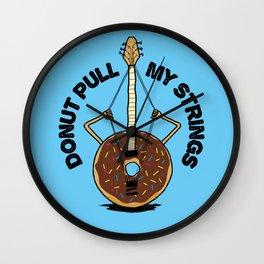 Donut Pull My Strings - Banjo Pun Wall Clock