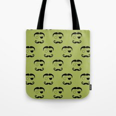 Olde Timey Mustache and Eyepatch Man Tote Bag