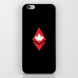 Canada flag ethereum iPhone Skin