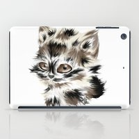 kitty iPad Cases featuring Kitty by quackso