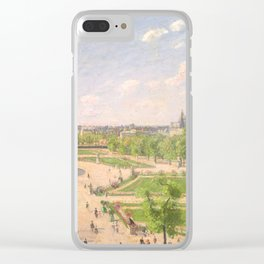 "Camille Pissarro ""The Garden of the Tuileries on a Winter Afternoon"" Clear iPhone Case"
