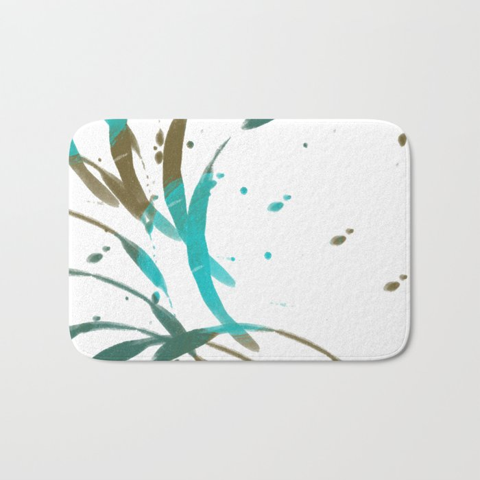 Ringed Turquoise Bath Mat