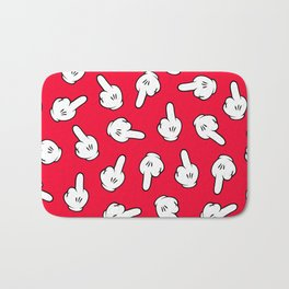 HATERS GONNA HATE! Pattern in red Bath Mat