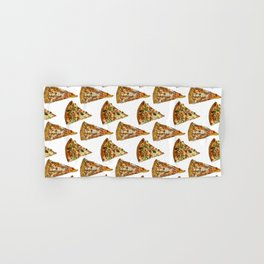 Spicy Meat Pizza Slice Polka Dot Pattern Hand & Bath Towel
