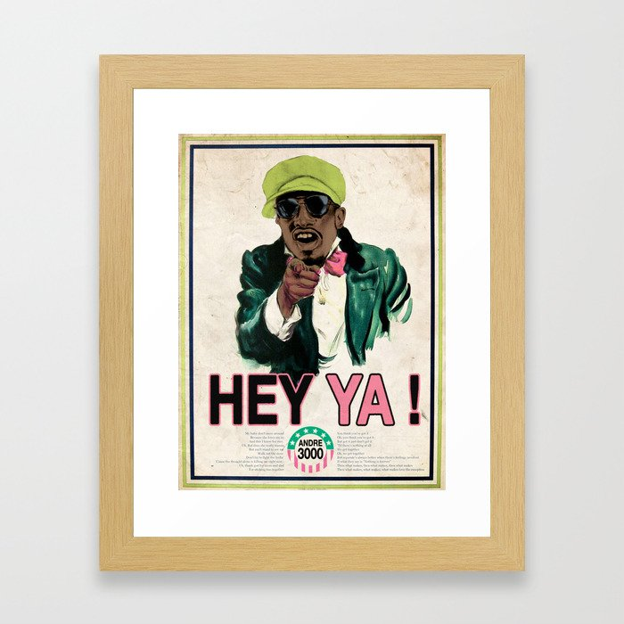 HEY YA ! Framed Art Print