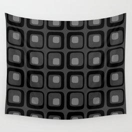 60s Grayscale Mod Wall Tapestry