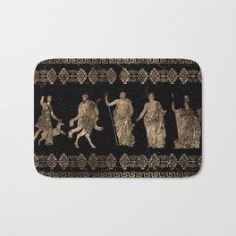 Greek Deities and Meander key ornament Bath Mat