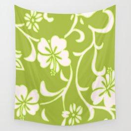 Y2K Surfer Flowery Pattern Green Wall Tapestry