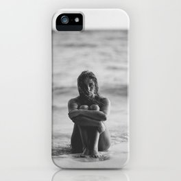 the girl on the beach iPhone Case