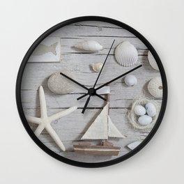 La Mer Beach Collage For Ocean Lovers Wall Clock