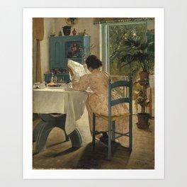 Laurits Andersen Ring 1854 - 1933 DANISH HARVEST TIME, LADBY Art Print