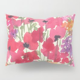 Big Red Poppy Patch Pillow Sham