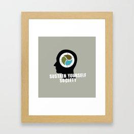 sustain yourself society Framed Art Print