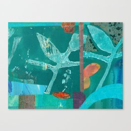 Turquoise Repeat Canvas Print