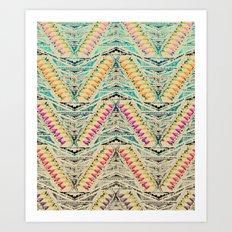TEEPEE OMBRE Art Print