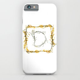 "Seaweed Alphabet ""D"" iPhone Case"