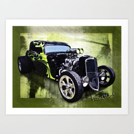 1934 Ford Three Window Coupe Hot Rod Art Print