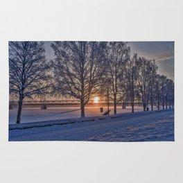 Sunset in Rovaniemi. Rug