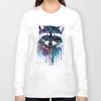 raccoon Long Sleeve T-shirts featuring Raccoon by Slaveika Aladjova