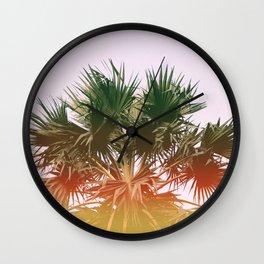 Palm tree#leaklight#film#effect Wall Clock