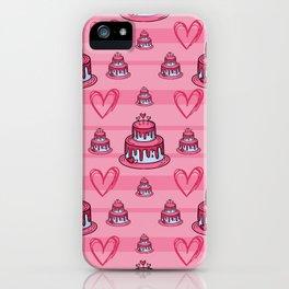 Cute Pink Cake Pattern iPhone Case