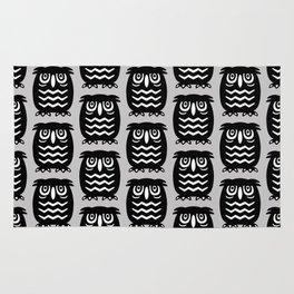Mid Century Owl Pattern Grey 22 Rug
