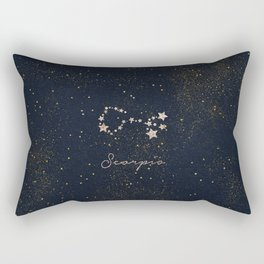 Scorpio - Rose Gold Rectangular Pillow