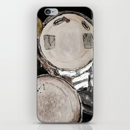 drum set, ready to rock iPhone Skin